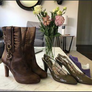 Coach boots with bonus Coach Patent heels